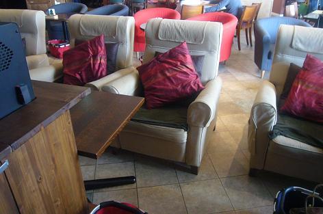 ムーミンカフェのソファ