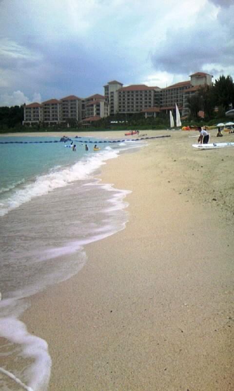 帰りは向かいのブセナテラスビーチによりました