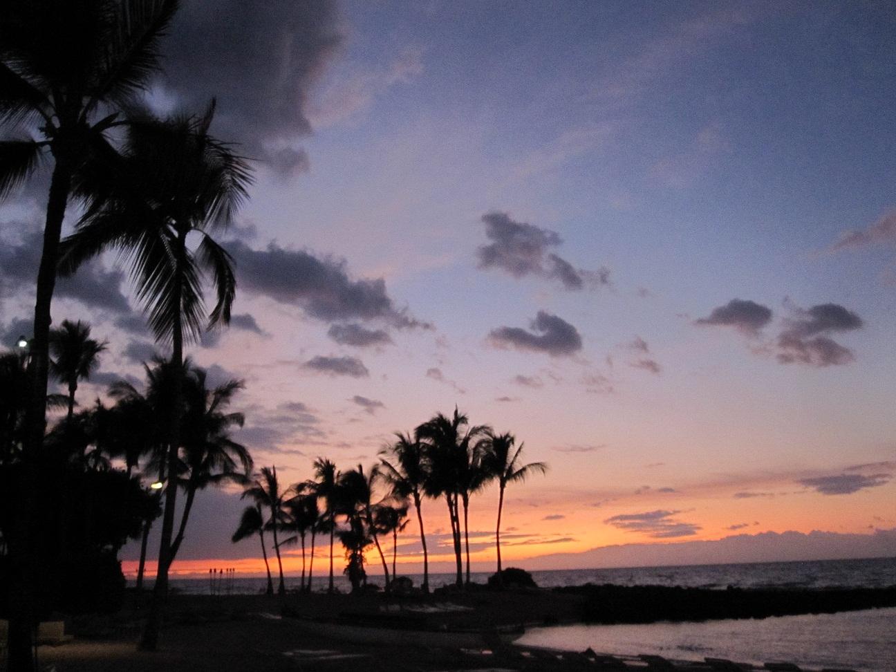 ハワイ 夕焼け