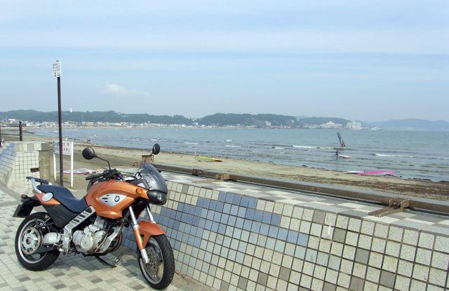 F650CS@由比ケ浜