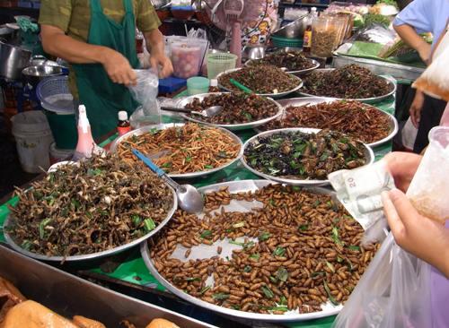 バンコクの虫売り屋台