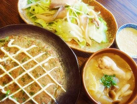 山芋のお焼き フィリピン風お刺身 酸辛湯