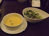 かぼちゃスープ&サラダ