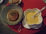 ズッキーニのスープ、大根の煮物