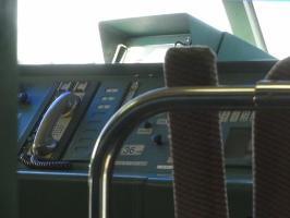 0系ちゃん乗務員席。