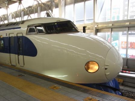 0系ちゃん、博多駅にて。