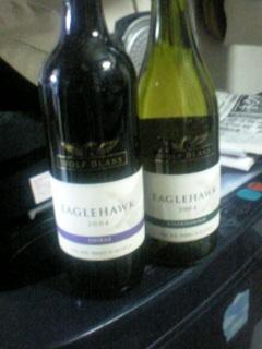 今月の当選品「ワイン2本セット」