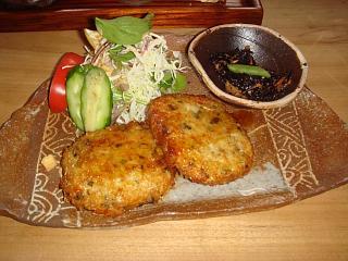 2010.1.09 飛魚ハンバーグ定食2