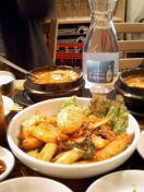 チゲ鍋とトッポキ