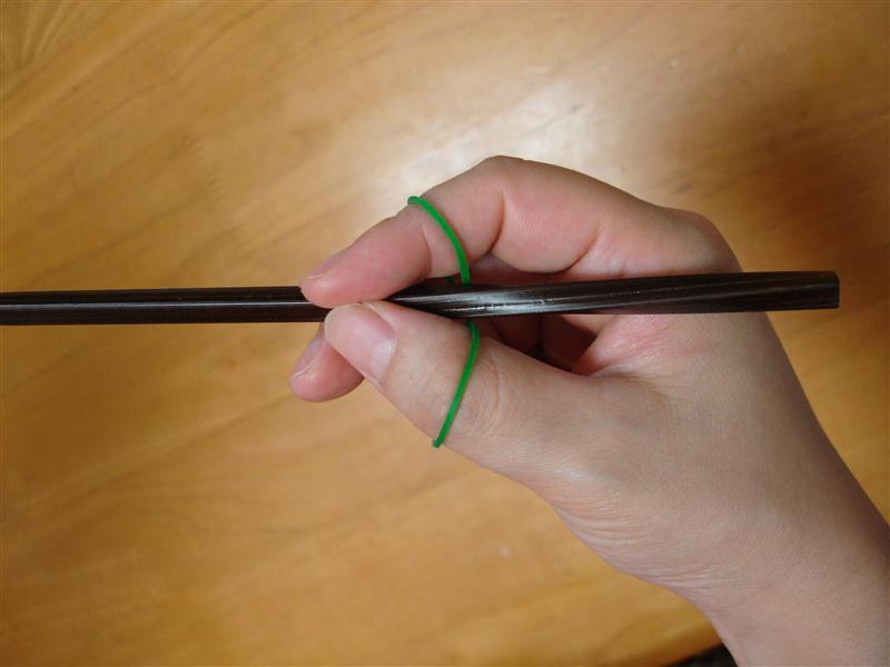 箸の持ち方練習2