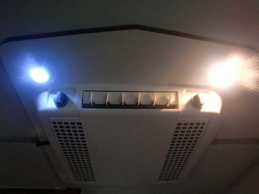 LED ホワイトとウォームホワイト