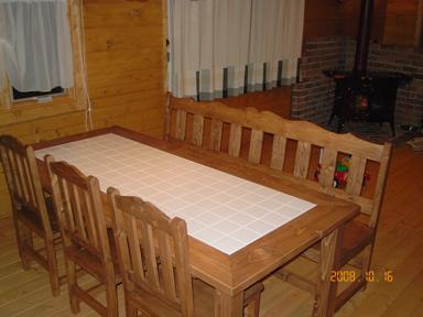 ダイニングテーブル ウォルナット 4