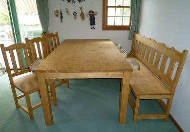 ダイニングテーブル 無垢4