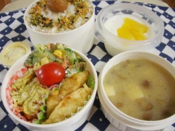 鱈の天ぷらタルタル弁当