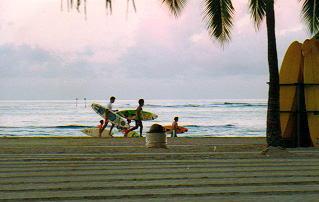 ハワイの朝