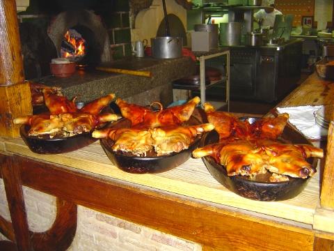 子豚の丸焼き料理