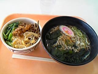 ビビンバ丼(ミニ)&そば