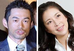 米大リーグのイチロー選手(左)と女優の真矢みきさん(右)
