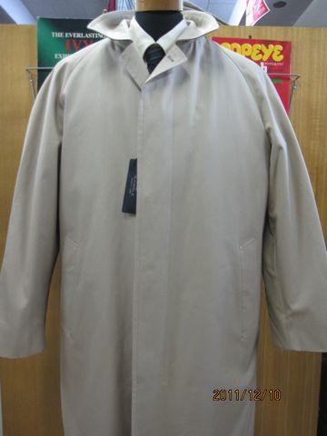 綿ステンカラーコート