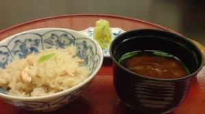 鮭ご飯と赤出し~おかわりしました。