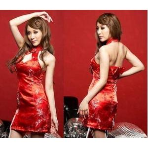 赤いセクシーチャイナドレス
