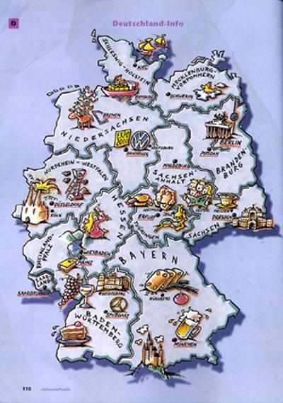 Deutschekarte von VHS
