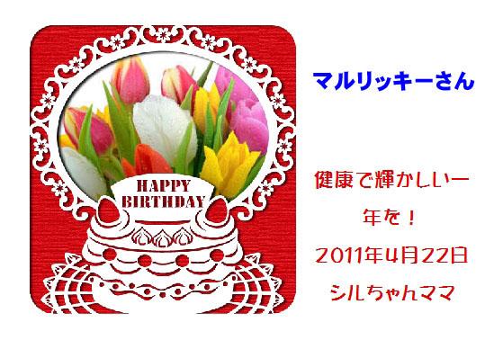 2011バースデーカード_シルちゃんママさん
