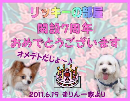 7周年_まりんママさん