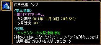 11.11.11疾風迅雷バッチ.jpg
