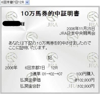 18.11.25京都10万馬券