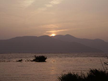 琵琶湖^残照450