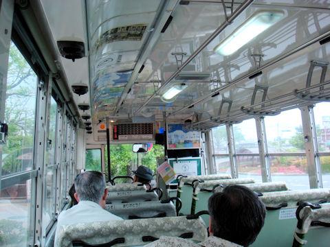 津和野行きバスの車内