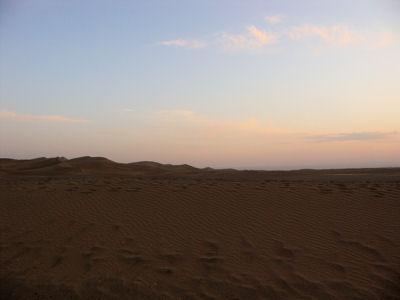 夕方の沙漠1