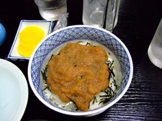 タラコしょうゆ丼
