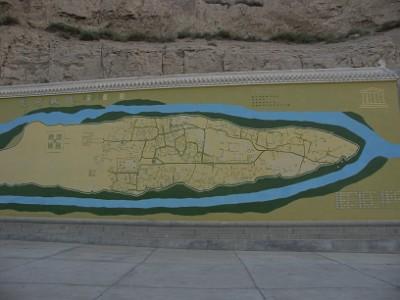 交河故城の地図