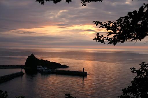 オホーツクに沈む夕日