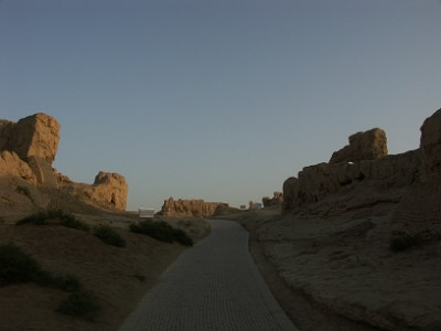 交河故城中央の道