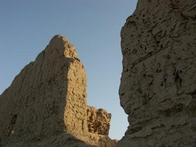 交河故城の壁