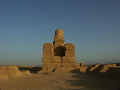 交河故城の仏塔