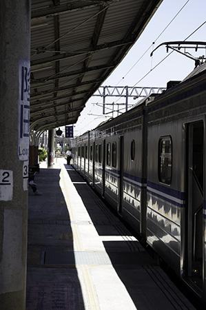 隆田駅ホーム