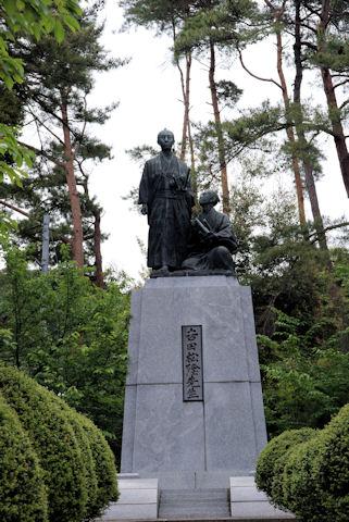 松陰生誕の地の銅像