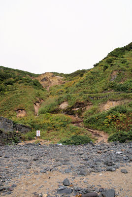 島武夷海岸の遊歩道