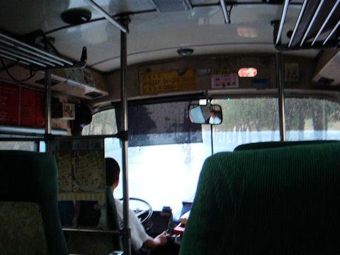 彰化行きのバス。ぼろい