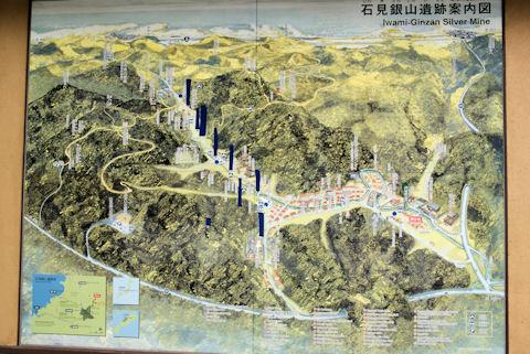 銀山の地図