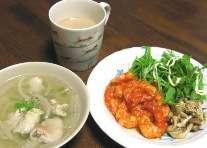 鶏のジンジャースープ