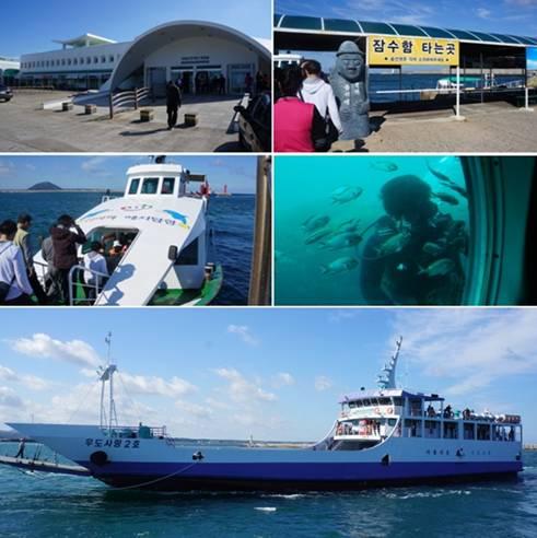 済州島 牛島 潜水艦