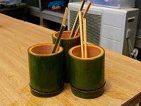 手作りの器と箸 完成!