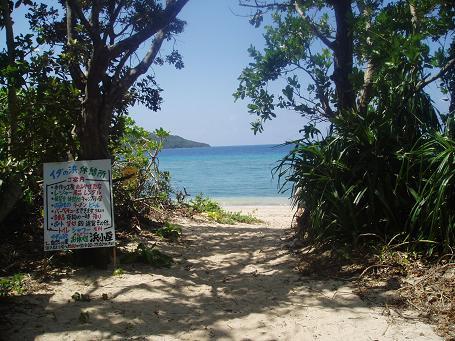 イダの浜へ続く道