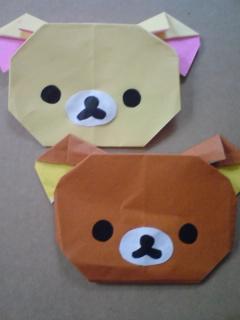 キャラクター 折り紙 簡単