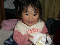 デザートのロールケーキ
